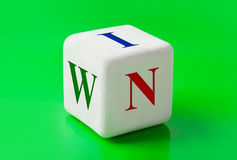 Dice with word Win Royalty Free Stock Photo