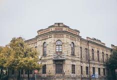 Die Architektur des Retrostils Historisches Gebäude Handelsbank Stockbild