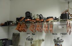 Die Werkzeuge der Dunkelkammer Stockbild