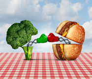 Diet Battle Stock Image