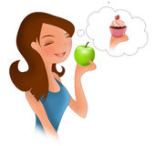 Diet eating temptation Stock Photography