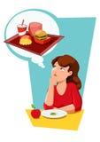 Diet eating temptation Stock Image