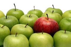 Different concepts with apples Stock Photos
