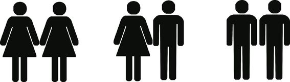 Different couples Royalty Free Stock Images