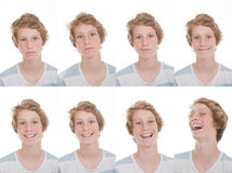 Different moods and expressions Royalty Free Stock Images