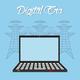Digital-Äratechnologie Stockfoto