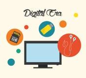 Digital-Äratechnologie Stockbild
