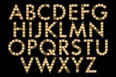 Digital Alphabet Marquee Style Scrapbooking Element Stock Photos