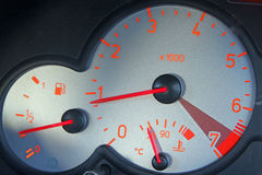 Digital car mileage clock speedometer Royalty Free Stock Photography