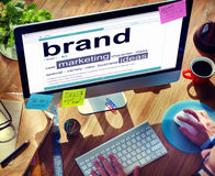 Digital Dictionary Brand Marketing Ideas Concepts Royalty Free Stock Image
