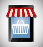 Digital marknadsföring och online-försäljningar Arkivbild