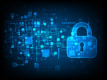 Digital protection and security. Royalty Free Stock Images