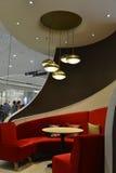 Diner Seats,luxury restaurant interior decoration, led chandelier,led lamp,led lighting Stock Photography