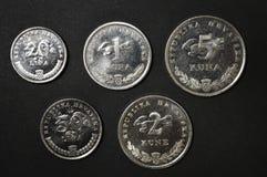dinheiro croata da moeda do kuna Imagem de Stock Royalty Free