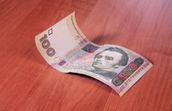 Dinheiro Ucrânia Hryvnia da nota cem Foto de Stock Royalty Free