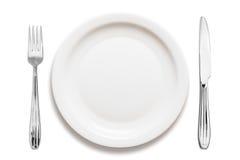Dinner plate arrangement Royalty Free Stock Photos