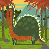 Dinosaur Eating Leaves. Stock Images