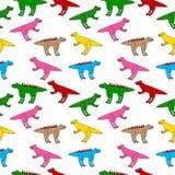 Dinosaurs seamless pattern. Stock Photography