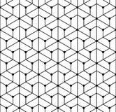 Dirigez la grille sans couture moderne de modèle de la géométrie, résumé noir et blanc Photos libres de droits