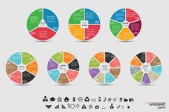 Dirigez le calibre pour le diagramme de cycle, le graphique, la présentation et le diagramme rond Image stock