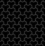 Dirigez le modèle sacré sans couture moderne de la géométrie, résumé noir et blanc Images stock
