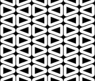 Dirigez le modèle sans couture moderne de la géométrie, résumé noir et blanc Photos libres de droits