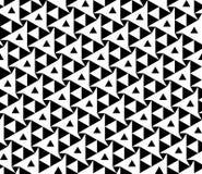 Dirigez les triangles sans couture modernes de modèle de la géométrie, résumé noir et blanc Images libres de droits