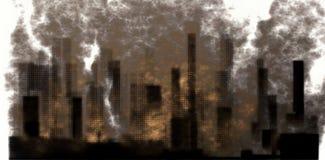 Industrial City Smoke Stock Image