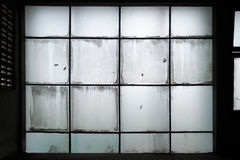 Dirty glass wall Stock Photo
