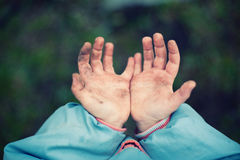 Dirty hands Royalty Free Stock Photography