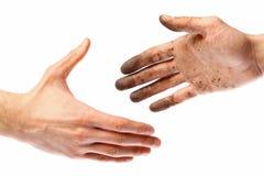 Dirty handshake Stock Images