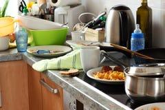 Dirty kitchen Royalty Free Stock Photos