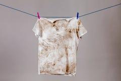 Dirty shirt Royalty Free Stock Image