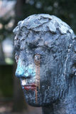 Dirty statue head Stock Photography
