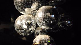 Disco Balls Spinning stock video footage