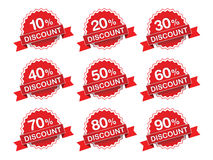 Discount percent sticker price tag. Royalty Free Stock Photography
