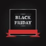Diseño de la bandera del vector de la venta de Black Friday Fotografía de archivo libre de regalías