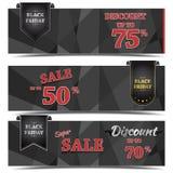 Diseño de la bandera del vector de la venta de Black Friday Fotos de archivo libres de regalías