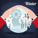 Diseño de la estación del invierno Fotografía de archivo libre de regalías