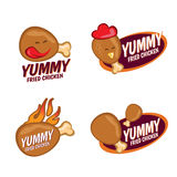 Diseño determinado del pollo frito del vector delicioso del logotipo Fotografía de archivo libre de regalías