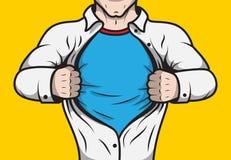 Disguised comic book superhero Stock Photography