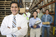 Distribution Warehouse Staff Stock Photos