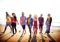 Diverse Beach Summer Friends Fun Bonding Concept Royalty Free Stock Image