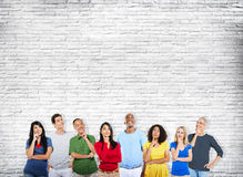 Diverse Ethnicity People Thinking Looking Ideas Concept Stock Photo