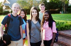 Diverse group of friends Royalty Free Stock Photo