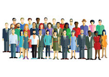 Diverse group of men and women Royalty Free Stock Image