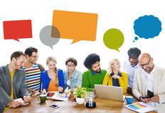 Diverse People Discussing About New Ideas Royalty Free Stock Photo