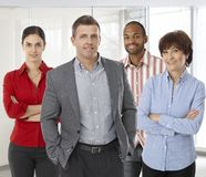 Diverse team of successful office people Stock Image