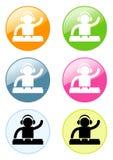 Dj pictogram Stock Images