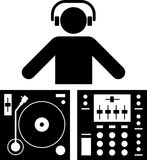 DJ pictogram Royalty Free Stock Photo